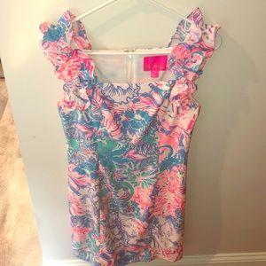 Lilly Pulitzer ruffle sleeve dress